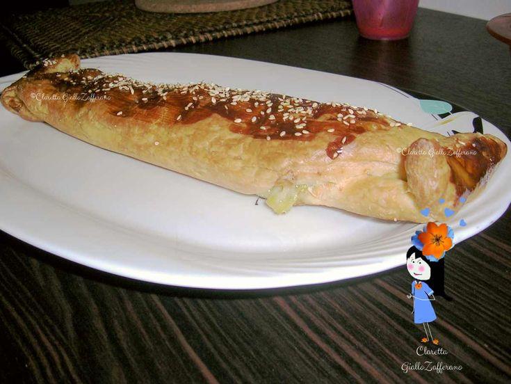strudel salato con zucchine e mozzarella