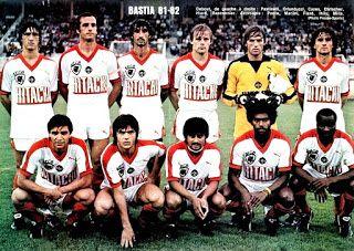 EQUIPOS DE FÚTBOL: BASTIA 1981-82