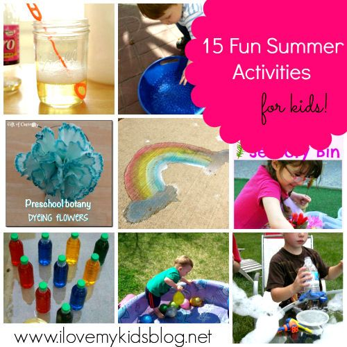 15 Fun Summer Activities for Kids: this list has some great ideas!