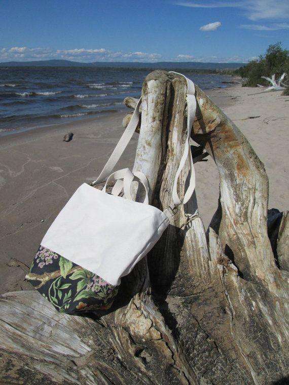 Handwaxed canvas crossbody tote bag