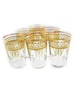No description needed. These eclectic inspired golden trimmed glass cups are perfect.