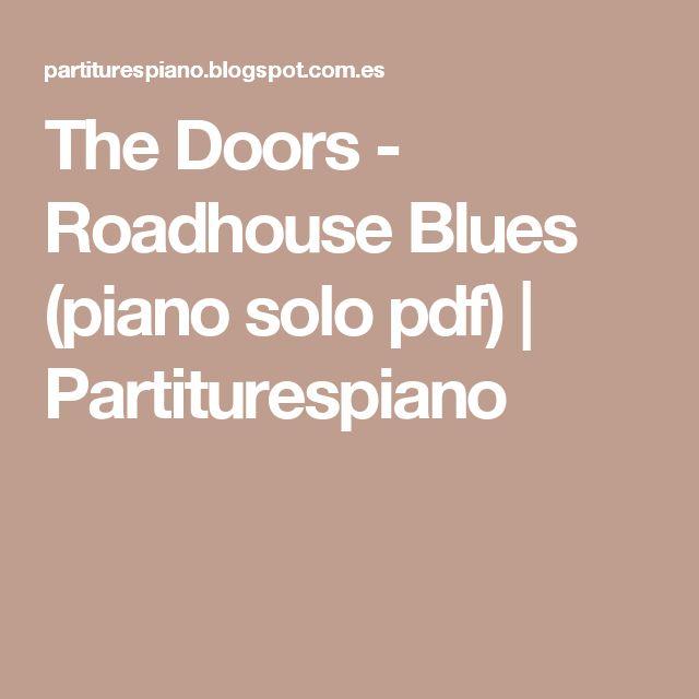 The Doors - Roadhouse Blues (piano solo pdf) | Partiturespiano