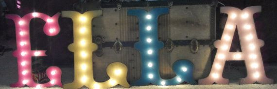 36 LARGE Circus Vegas Carnival Marquee Letters by JunkArtGypsyz, $169.90. - E