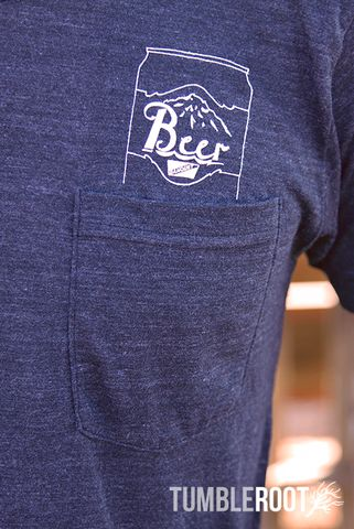 It's always five o'clock somewhere when you're wearing this shirt! This awesome beer pocket tee has a comfortable, vintage feel that is perfect for everyday wear.