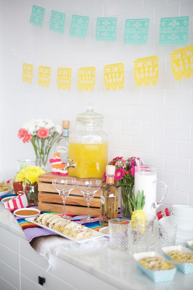 How to Create the Perfect Margarita & Taco Bar | Cinco De Mayo Ideas via The Everygirl