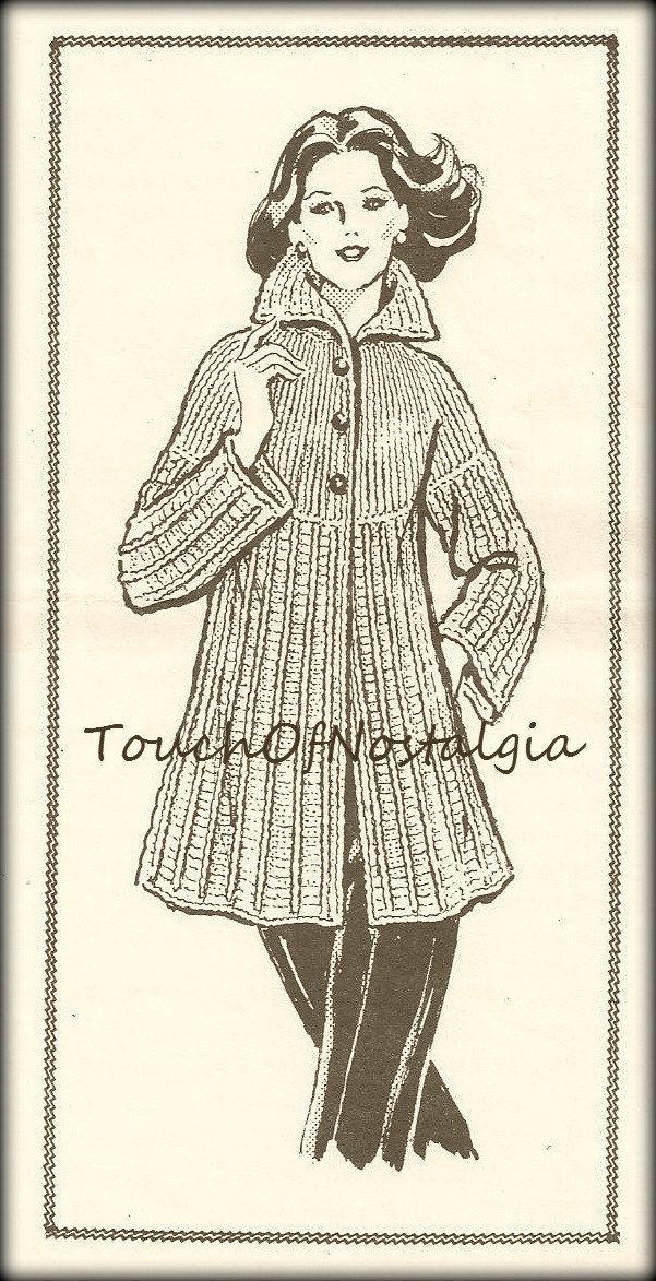 Mejores 92 imágenes de Crochet coats and jackets en Pinterest ...