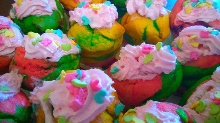 """радужные  кексы, """"принцесса Надя"""""""