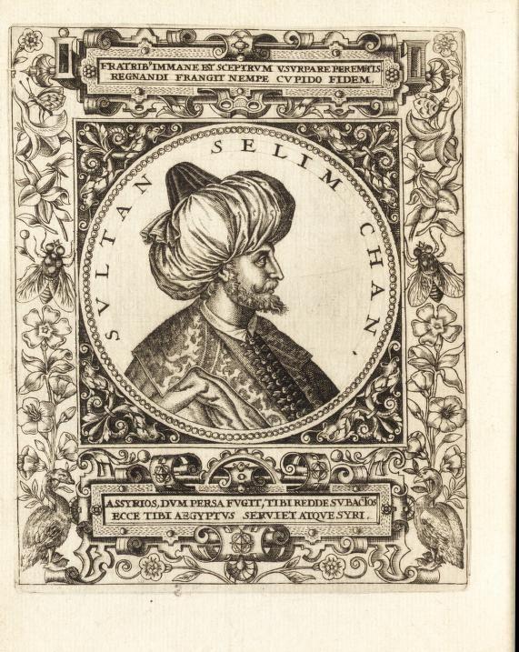 Vitae et icones sultanorum Turcicorum, principum Persarum aliorumq[ue] illustrium heroum heroinarumq[ue] ab Osmane usq[ue] ad Mahometem II : ad vivum ex antiquis mettallis effictae, illustratae by Boissard, Jean Jacques, 1528-1602; Bry, Theodor de, 1528-1598; Hoefnagel, Joris, 1542-1601; Lonicerus, Johann Adam, b. 1557. Pannoniae historia chronologica Published 1596 Topics Sultans, Sultans SHOW MORE Issued as part of v. 2 of Johann Adam Lonicerus's Pannoniae historia chronologica