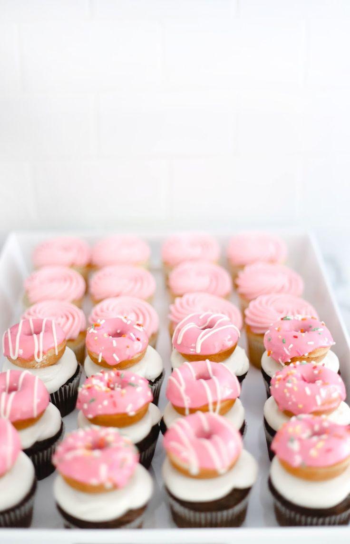 mini donut cupcakes