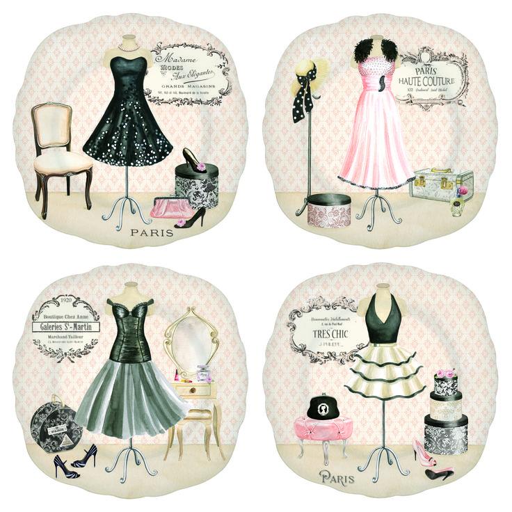 Cake plate La boutique de la Mode - Nouva R2S - www.lotsofballoons.com
