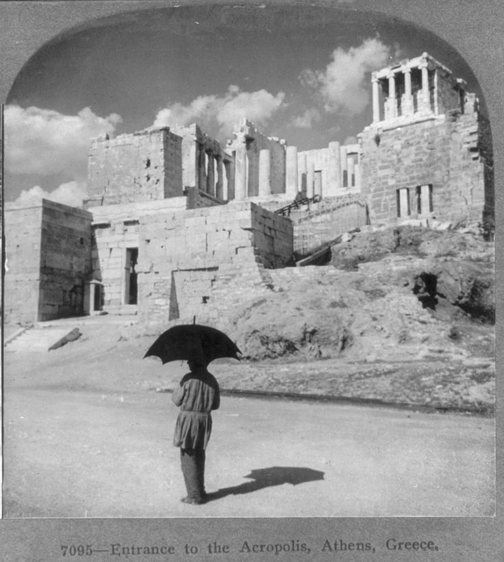https://flic.kr/p/5Kg6i2 | entrance acropolis l905 | from collection stereocards in Library of congress