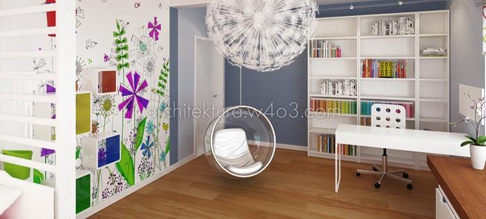 wnętrza dom jednorodziny - pokój dla dziecka
