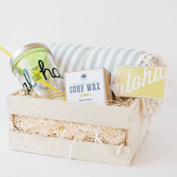 The Papaya Exchange #giftingwithaloha  Invite your loved one out for adventure with our Aloha No. 2 gift box. This gift is ready to hit the beach, travel abroad, and have fun in the sun! Perfect as a honeymoon/wedding gift or birthday gift.