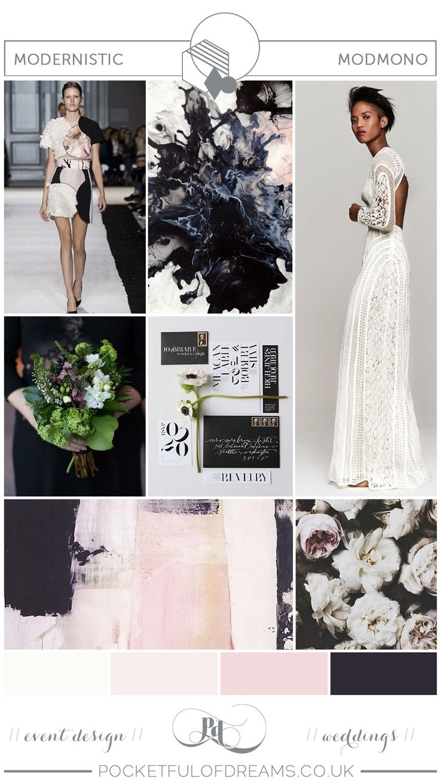 Modern, Minimalist Monochrome Wedding Inspiration