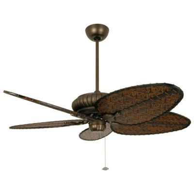 Belleria Ceiling Fan by Fanimation Fans - this shows the antique bamboo finish, I want the tortishell finish, perfect for the deck
