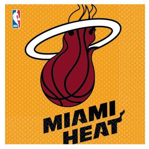 Miami Heat Basketball - Lunch Napkins Party Accessory - http://weheartmiamiheat.com/miami-heat-basketball-lunch-napkins-party-accessory/
