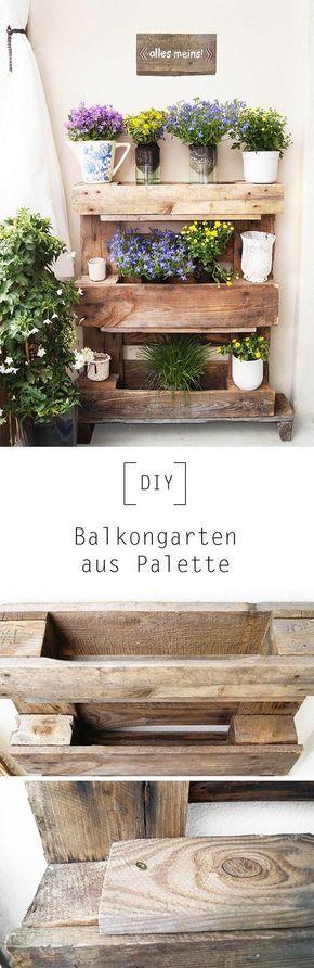 Balkongarten aus Palette by Nur noch – DIY Anleitu…