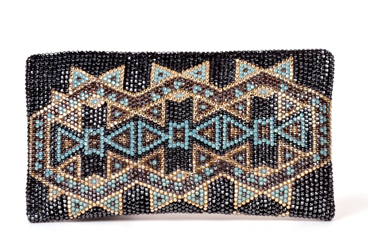 Iruala Clutch from the #SilviaTcherassi Wayúu Collection. Crystallized with Swarovski Crystals.