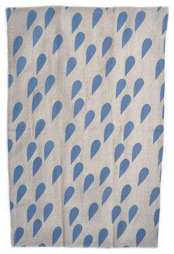 Raindrops Linen Tea Towel - contemporary - Dishtowels - LEIF $16