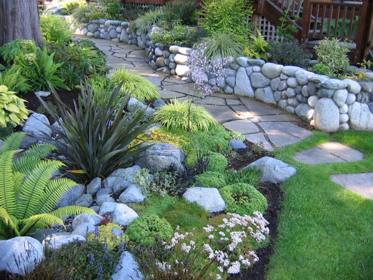 154 best images about rock gardens on pinterest gardens garden design and drought tolerant - Rock Wall Garden Designs