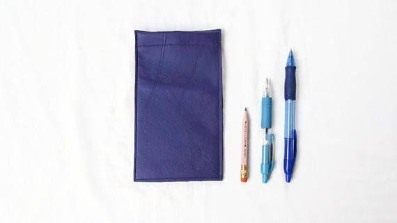 Leather Iphone sleeve dark purple IPhone 8 cover Italian