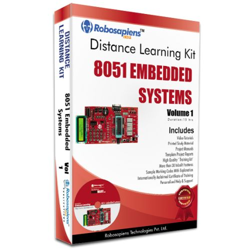 This Program mainly focuses on the Individuals eager to learn 8051 Embedded Systems from Basic through Distance Education. They will get the chance to expand their knowledge in the field of Designing, Operation and Application of 8051 Embedded Systems with real time hand on practical experience.The duration of this module is 7 days. After completion of the Learning Section the Individual have to give examination on any working day within 3 Months, prior he/she has to lock