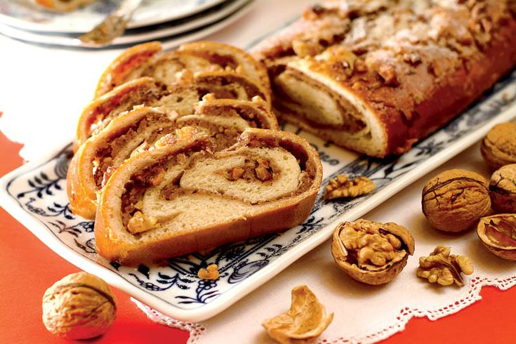 Cozonac - a mouthwatering sweet bread with nuts and chocolate