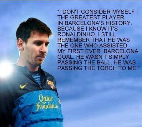 Messi about Ronaldinho