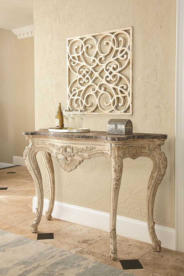 Hammary Jessica Mcclintock Hall Console Table With Marble Top 217 925w