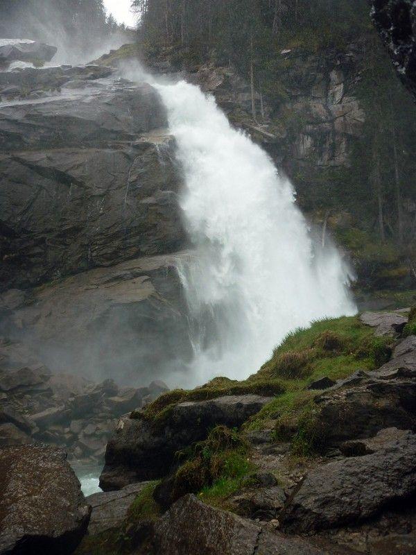 A Krimmler Wasserfälle alsó szakasza