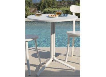 Table de bistrot ronde en aluminium Bistro par TALENTI chez www.ksl-living.fr