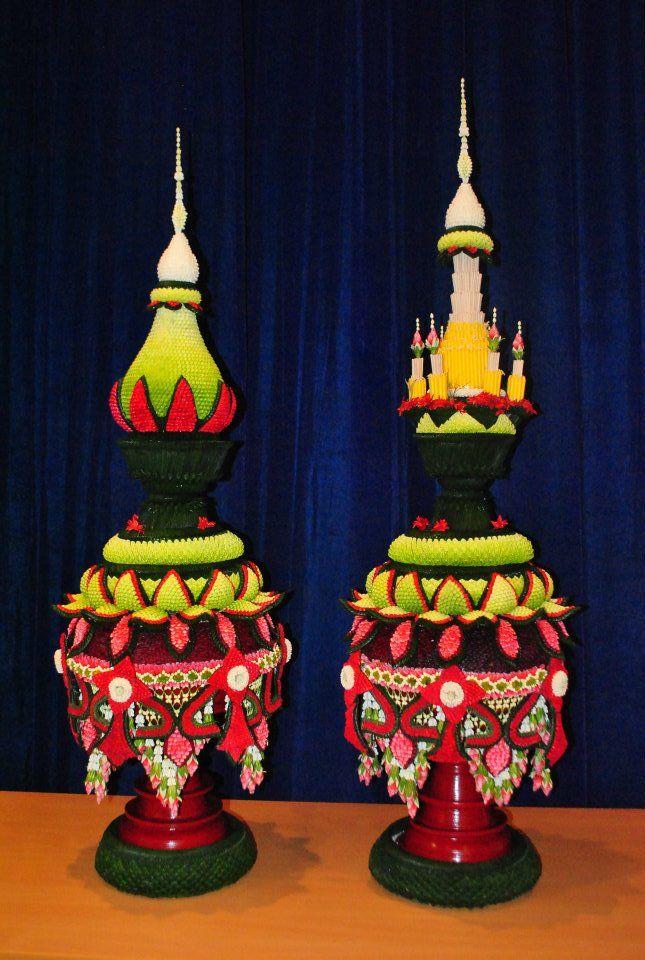 Thai style flower arrangement