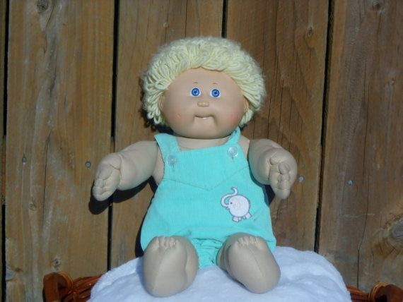 Cabbage Patch Doll Blond hair blue eyes by LovedOnceMoreVintage