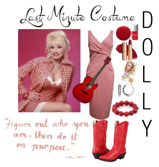 """Dolly Parton costume"" by joyfulmum ❤ liked on Polyvore featuring Michael Kors, Durango, Oribe, Christian Dior and Allurez"