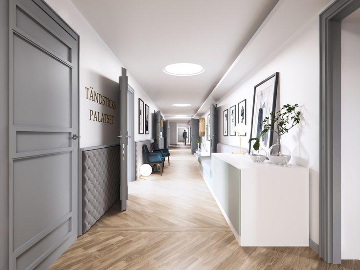 """Tändstickspalatset"" Office / Corridor,  Stockholm Interior design, Scandinavian design, 3D visualisation, render, archviz, 3Ds Max, modern design, styling"