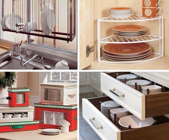 Organizar a louça da cozinha é sempre um desafio. Veja algumas ideias criativas para organizá-las melhor! - Veja mais em: http://www.vilamulher.com.br/decoracao/organizacao-da-casa/como-organizar-a-louca-678271.html?pinterest-destaque
