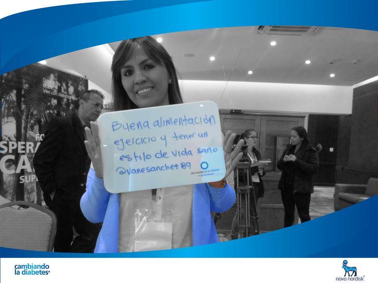 Vanesa Sánchez está #cambiandoladiabetes con un estilo de vida sano. ¿Y tú, cómo estás #cambiandoladiabetes?