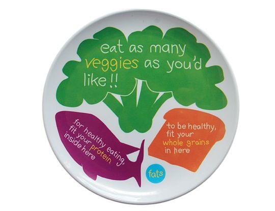 teaching kids how to eat via their plate