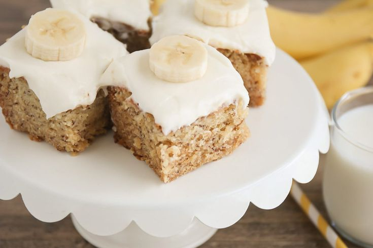 Frosted banana bars with cream cheese frosting lil