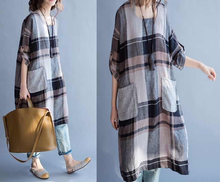 linen dress plus size /linen dress women/ loose by babyangella
