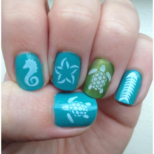 29 best Nails Turtle images on Pinterest   Turtle nails ...