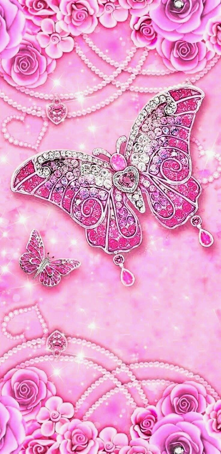 Pin by Zoe on Pink (With images) | Glitter wallpaper ...