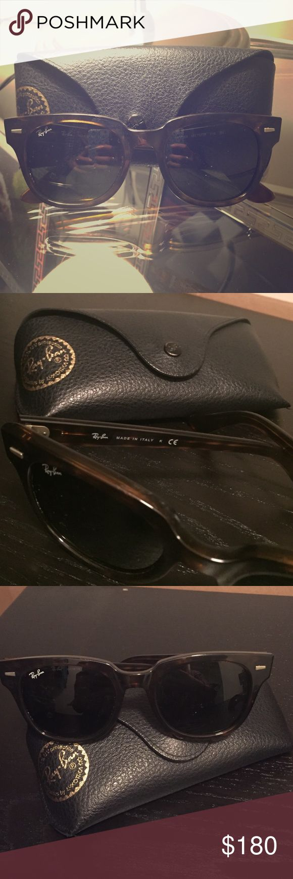 Ray Ban Meteor Sunglasses w/ case Ray Ban Meteor Sunglasses with authentic case. Tortoise shell frames Accessories Sunglasses