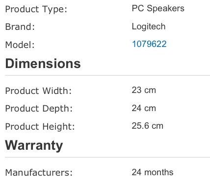 Computer Speaker Dimensions