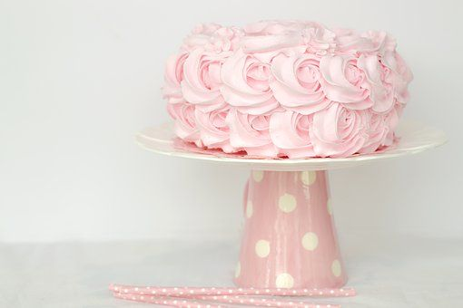 Ciastko, Sweet, Różowy, Urodziny