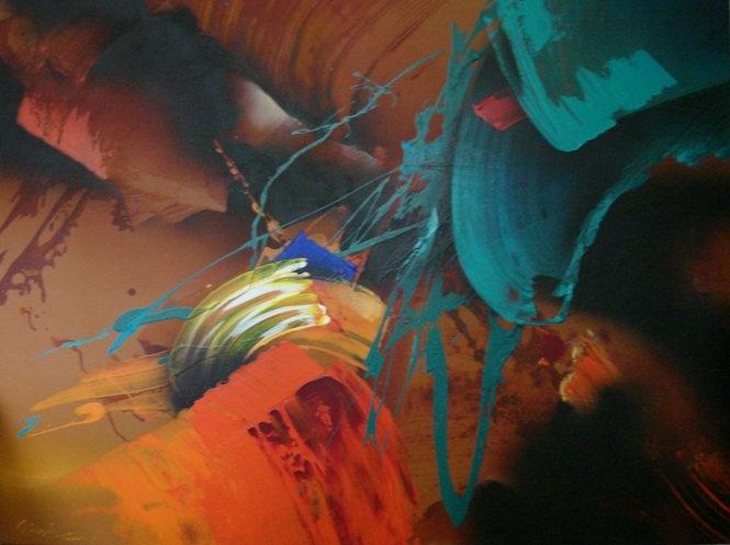 Güngör Taner, Acrylic on canvas, 130x100 cm