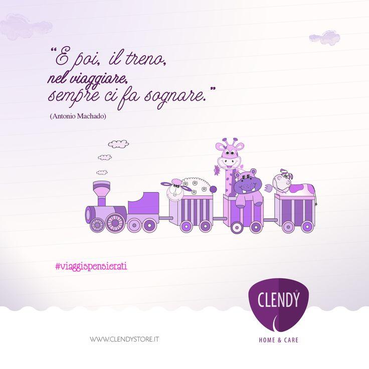 E poi, il treno, nel viaggiare, sempre ci fa sognare...  #sogni #treno #sognare #clendy #aforismi #citazioni #quotes  www.clendy.it