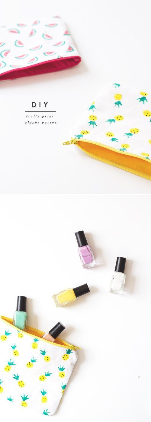 Zipper Pouches   41 DIY Gifts You'll Want To Keep For Yourself
