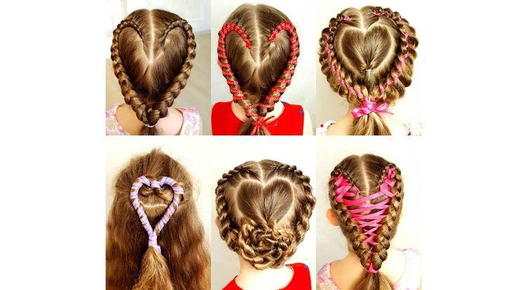 Valentine's day hair! Heart hairstyle. - Сердце из волос.