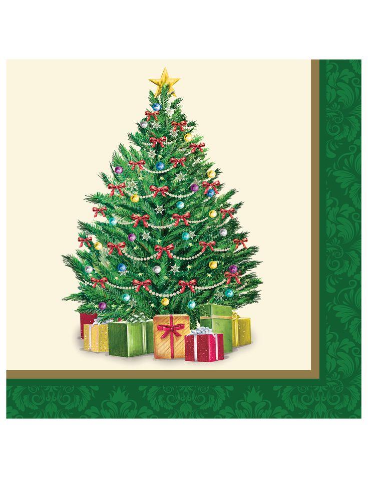 16 Servilletas papel Árbol de Navidad 33 cm